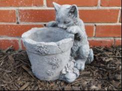 Cement Cat Planter