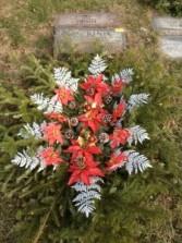 Cemetary Christmas  Grave Blanket Live evergreens,pine cones