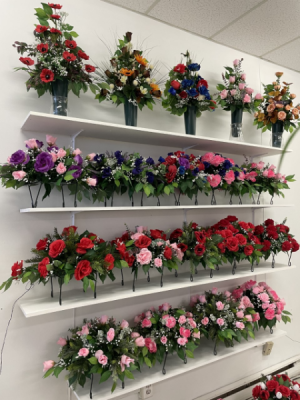Cemetery Artificial Sympathy Arrangements Remembrance in Gander, NL | Loretta's Flower World