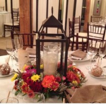 Centerpiece Fall Price Range: $75 - $125, Lanten not included