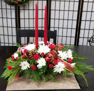 Centerpiece for the holiday Centerpiece in Indianapolis, IN | SHADELAND FLOWER SHOP