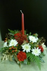 Centerpiece with 1 Candle