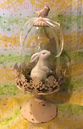 Ceramic Bunny Dome
