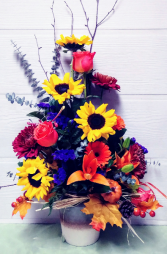 Ceramic Crock Floral Design