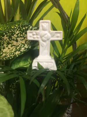 Ceramic Cross Cross in Milton, FL | PURPLE TULIP FLORIST INC.