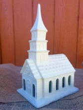 Ceramic Light Up Church Small