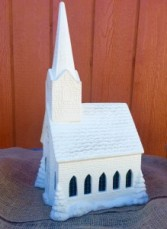 Ceramic Light Up Musical Church Large