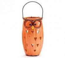 Ceramic Owl Lantern Seasonal Gift