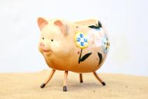 Ceramic Piggy  Container
