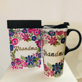 Ceramic travel mug Grandma