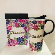 Ceramic travel mug Grandma