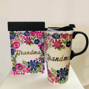 Ceramic travel mug Grandma in Chesterfield, MO | ZENGEL FLOWERS AND GIFTS