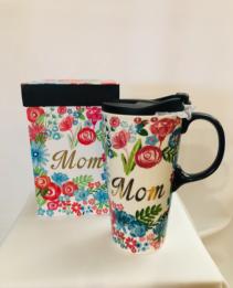 Ceramic Travel Mug Mom