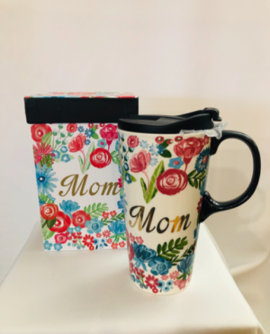 Ceramic Travel Mug Mom in Chesterfield, MO | ZENGEL FLOWERS AND GIFTS
