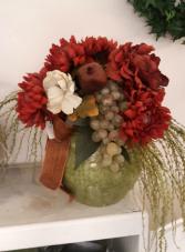 Ceramic vase of Silk flowers