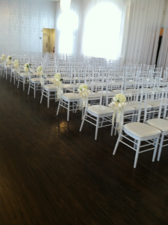 Chair bows or pew bows Wedding