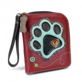 Chala Zip Around Wallet Paw Print