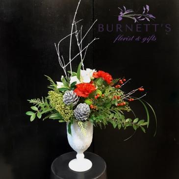 Chalice of Cheer Christmas Vase Arrangement