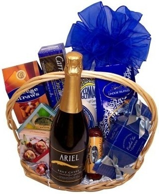 CHAMPAGNE & GOURMET NON-ALCOHOLIC GIFT BASKET