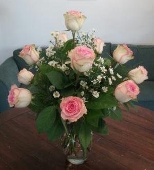 Chantilly Pink Rose Arrangement in Bluffton, SC | BERKELEY FLOWERS & GIFTS
