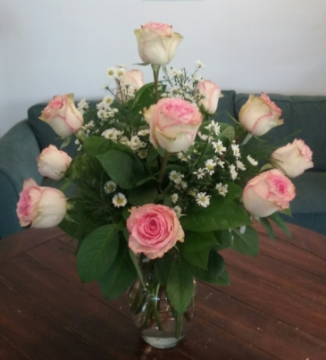 Chantilly Pink Rose Arrangement