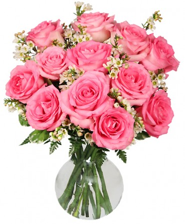 Chantilly Pink Rosesarrangement