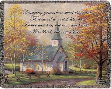 Chapel in Woods  Throw/Blanket