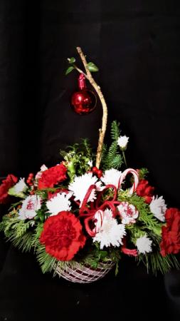 Charlie Bowns Christmas centerpiece arrangement