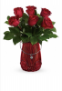 Charmed bouquet  Beautiful red roses