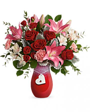 Charmed In Love Vase Arrangement