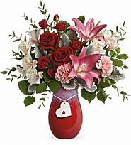 Charmed Love Vase in Claremont, NH | FLORAL DESIGNS BY LINDA PERRON