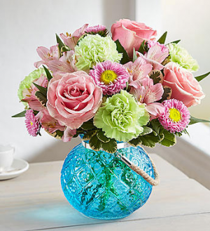 Charming  Blue Globe  in Oakdale, NY   POSH FLORAL DESIGNS INC.