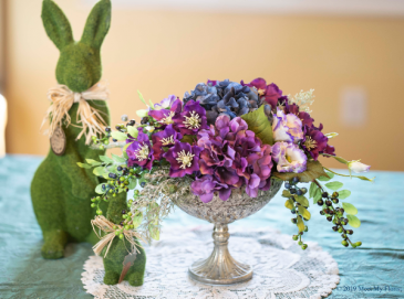 Charming Chalice Silk Floral Arrangement