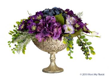 Charming Chalice Silk Floral Arrangement