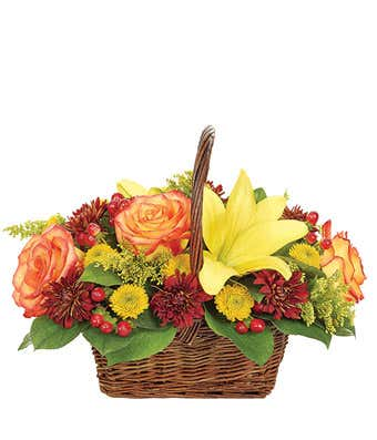 CHARMING FALL BASKET FALL/THANKSGIVING