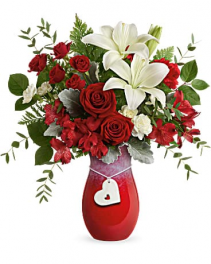 Charming Hearts Bouquet Teleflora's heart vase