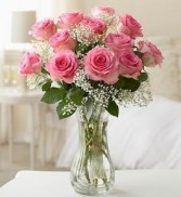 Charming Pink Roses rose arrangement