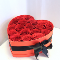 Charming Roses in a Heart Box **Local Delivery Only**
