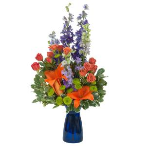 Cheer Up the Blues Arrangement in Roswell, NM | BARRINGER'S BLOSSOM SHOP