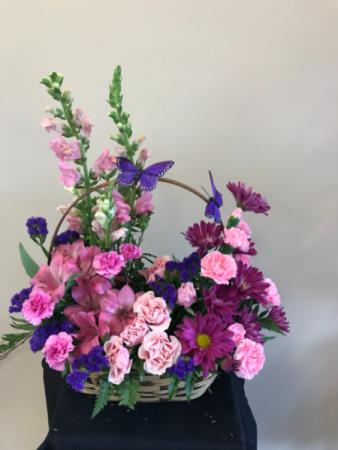 Cheerful arrangement  Butterflies arrangement