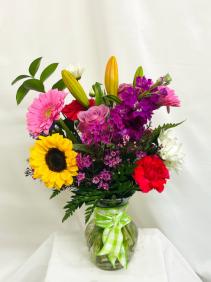 Cheerful Birthday Wishes Floral Arrangement
