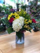 Cheerful Bouquet textured vase