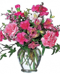 Cheerful Carnations  Vase Arrangement