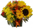 Cheerful Fall Cube Cut Flowers in Oasis