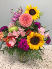Cheerful Garden Vase Arrangement in North Chili, New York | Westside Gardens