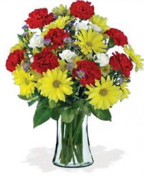 Cheerful Greetings Vase