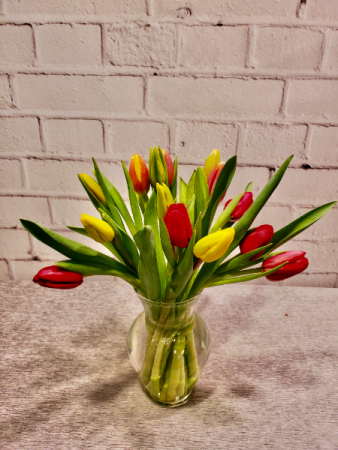 Cheerful Holland Tulips Vase Arrangement