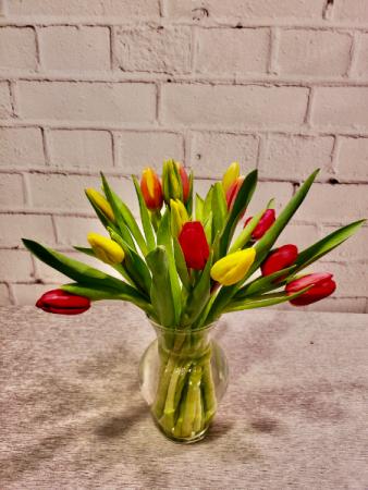 Cheerful Holland Tulips Vase Arrangement