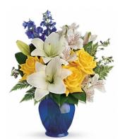Brights bouquet  Vase
