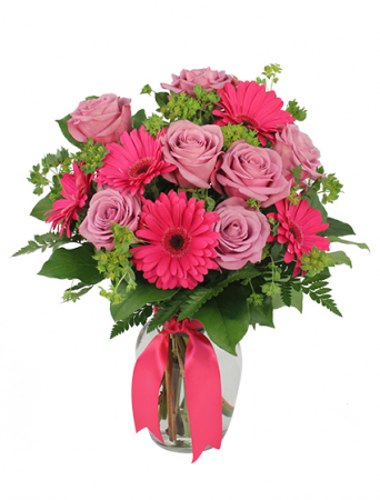 Cheerful Romance  By Autrys' 4 Seasons Florist